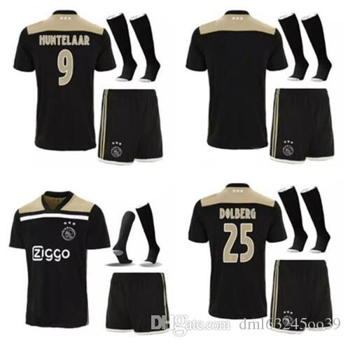 03c74f12634 2019 Ajax Soccer Jersey 2018 2019 Adult KLAASSEN EL GHAZI DOLBERG 18 19 Men  Camisetas De Futbol Football Shirts Uniform Adult Kits + Socks From  Dml63245oo39 ...