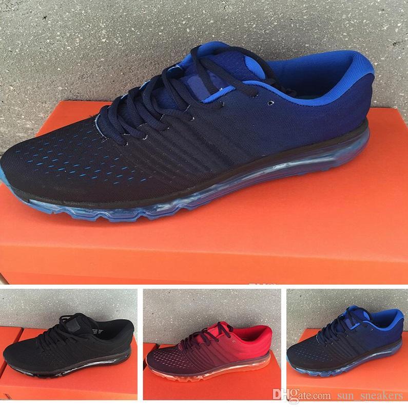 super popular 2e616 bf250 Großhandel Nike Air Max 2017 Sneakers Neue Ankunft 2016 2017 Herren Frauen  Laufschuhe Turnschuhe Sportschuhe Männer Frauen Sportschuhe Kpu 3 Größe Us  7 13 ...