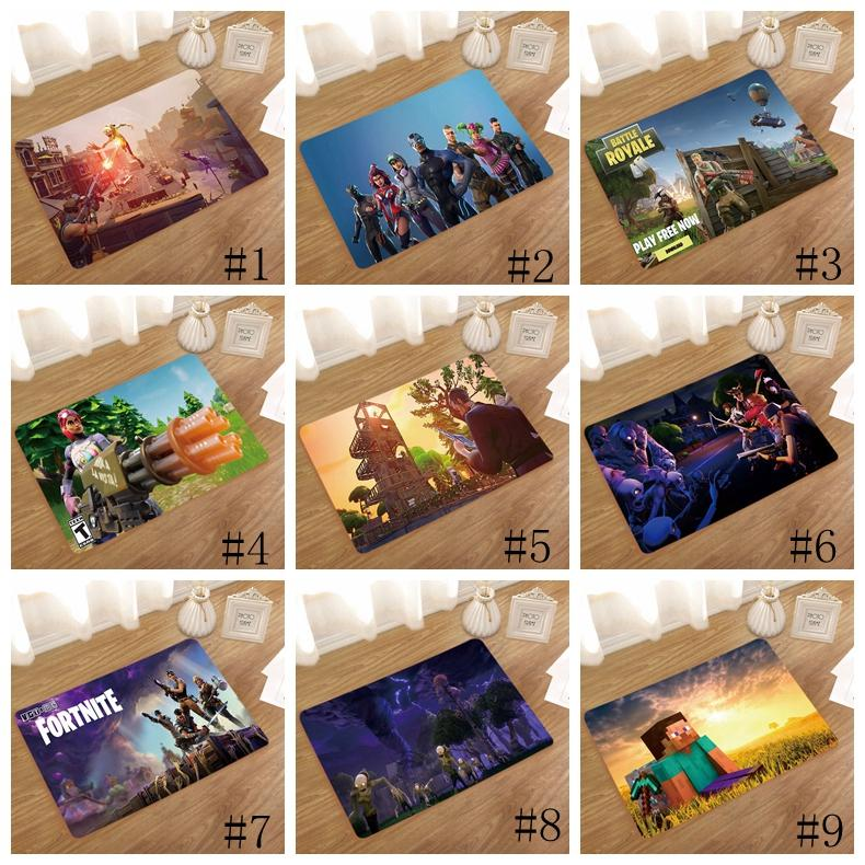 40 60cm Fortnite Floor Mat Flannel 3d Cartoon Print Non Slip Bath