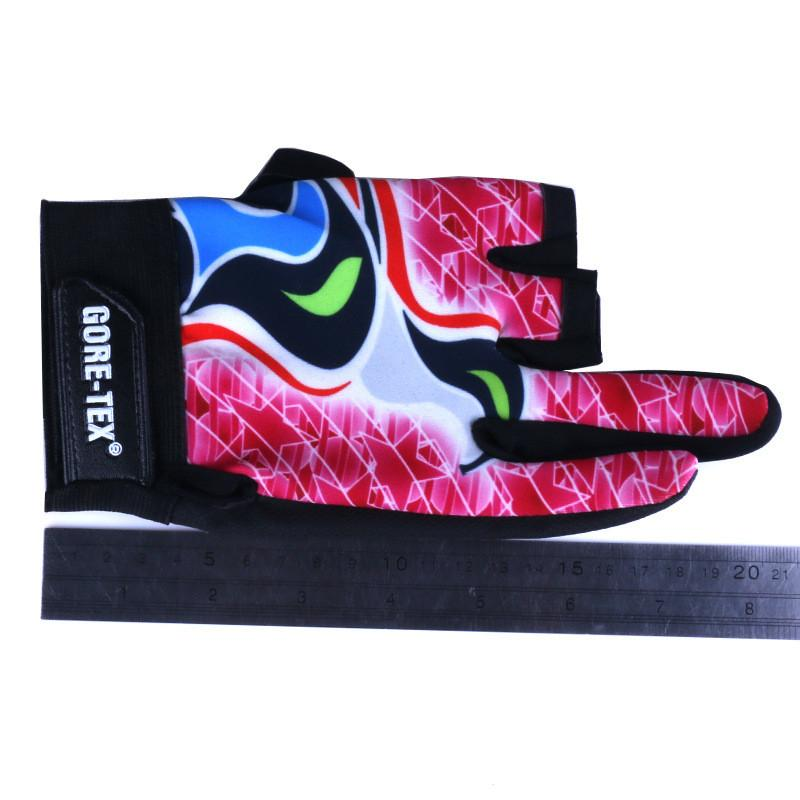 New Fabrics Comfort Anti-Slip 3 Cut-Fingers Guanti da pesca Anti-Skid Knuckle Fingerless Mezza dita Guanti sportivi