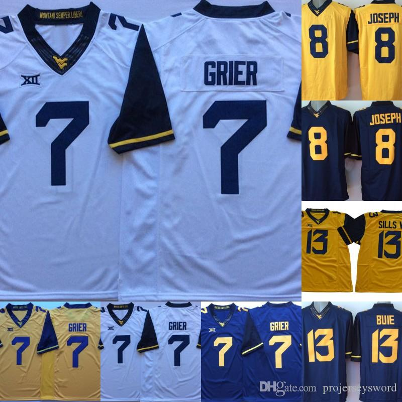finest selection cce07 db0aa Mens West Virginia Mountaineers Jersey 7 Will Grier 13 David Sills V 8 Karl  Joseph College Football Jerseys Fast Shipping