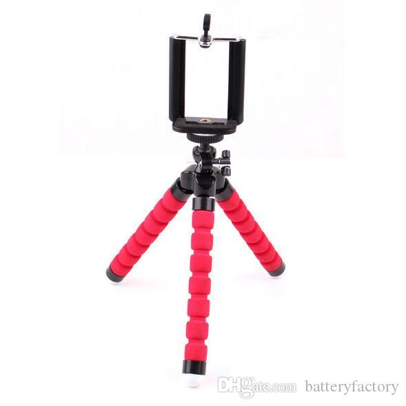 Bionanosky Toney 조정 가능한 3 개의 다리 스탠드 알루미늄 셀프 촬영 브래킷 휴대 전화 홀더 휴대 전화 카메라 유연한 미니 삼각대