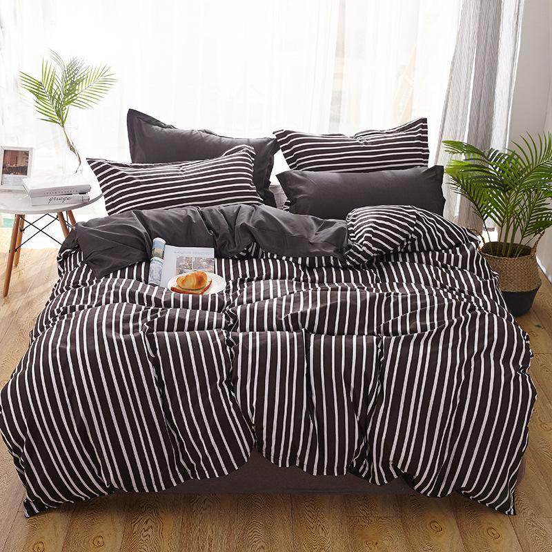 Klassische Geometrische Bettwäsche Set Grau Schwarz Blume Bettwäsche 34 Teile Satz Bettbezug Set Bettlaken Abside Bettbezug Weihnachtsgeschenk
