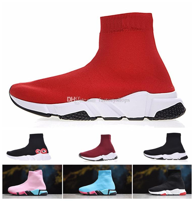 outlet 8 Models Luxury Designer Speed Trainer Stretch Knit Mid Sneakers Fashion Sock Shoes Men Women Casual Sock Boost Runners Sport Boots latest collections cheap price sale buy cheap largest supplier 3lhy7ZDe