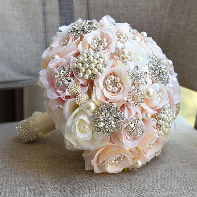 Best Selling Ivory Cream Brooch Bouquet Wedding Bouquet De Mariage