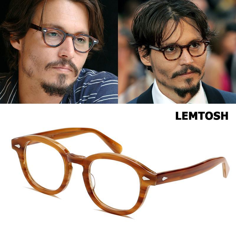 cf6a900ccfca 2019 JackJad Top Quality Acetate Frame Johnny Depp Lemtosh Style Eyewear  Frame Vintage Round Brand Design Eyeglasses Oculos De Grau From Greenparty