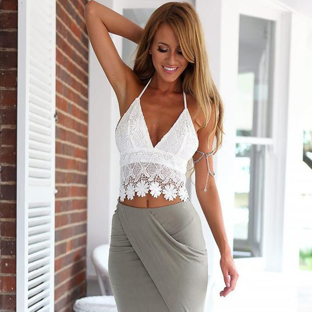 fba9c60b96fb9 New Fashion Women Summer Women Boho Tank Tops Bustier Bra Vest Crop Top  Shirt Bralette Blouse Cami Online with  28.24 Piece on Illusory06 s Store