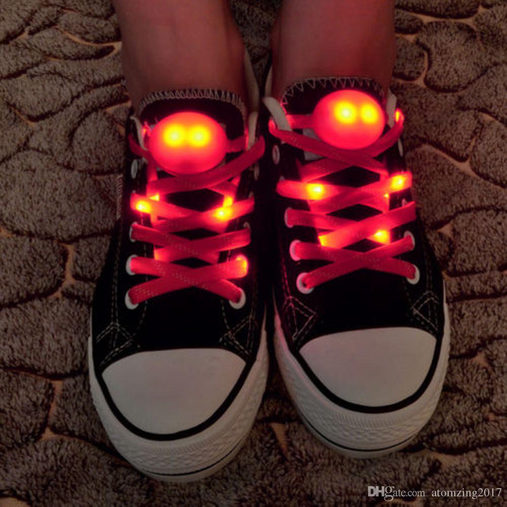 Moda LED intermitente cordones de los cordones cordones de los zapatos Platube Multi Light up Party Glow Part Cool 120cm