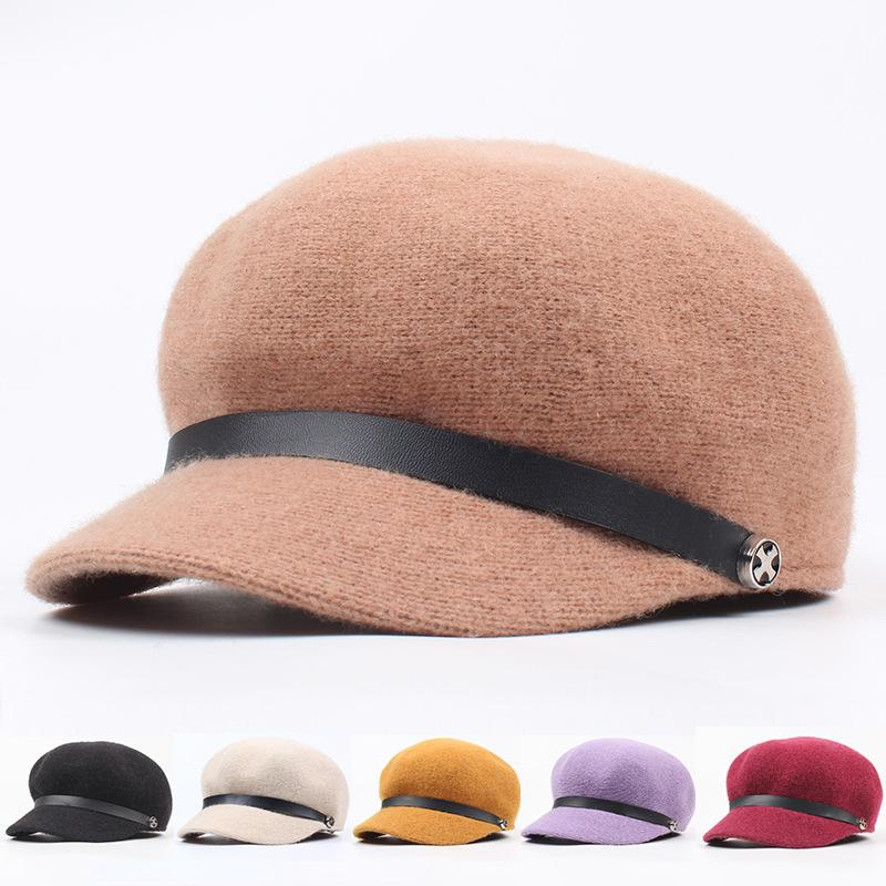 f61037037 Fashion mix British wool blended octagonal hat fashion literature Beret