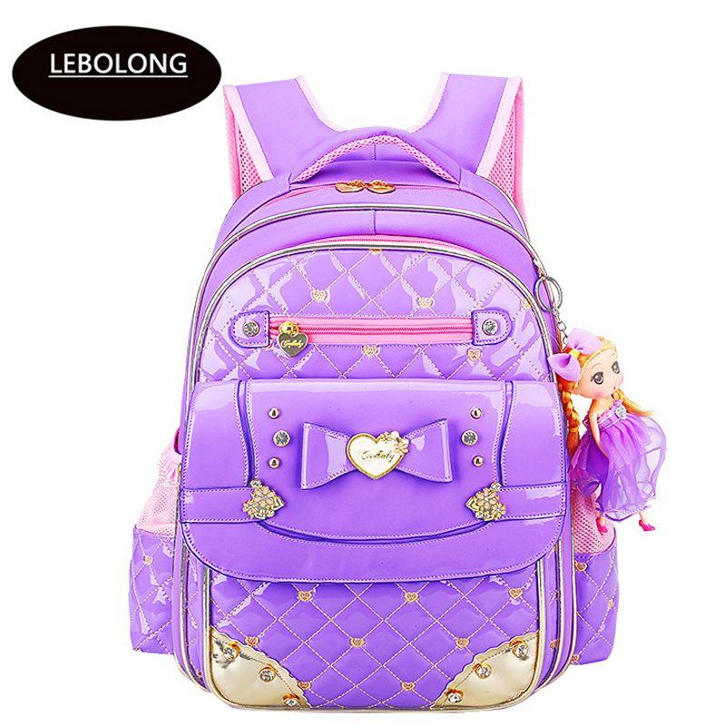 2018 Korean Style Girls School Bag Pu Leather Bag Children