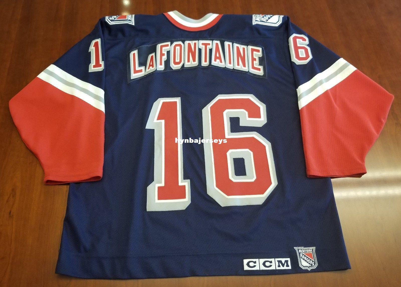 82e3bce521b ... discount code for 2018 custom pat lafontaine vintage new york rangers  ccm cheap hockey jersey lady