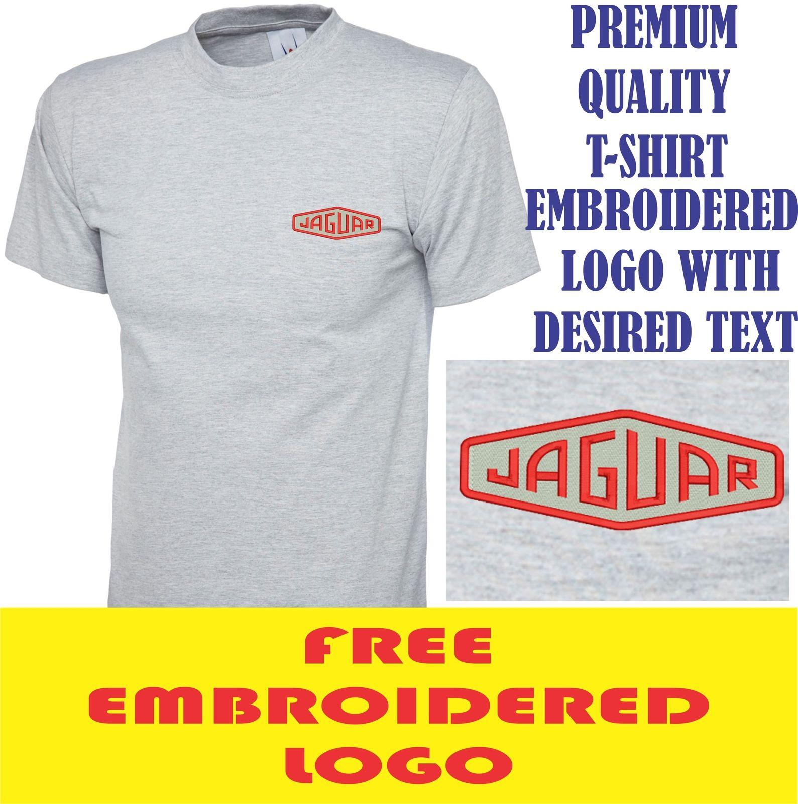 Embroidered Old Logo T Shirt Workwear Uniform Old Sports Tee Top