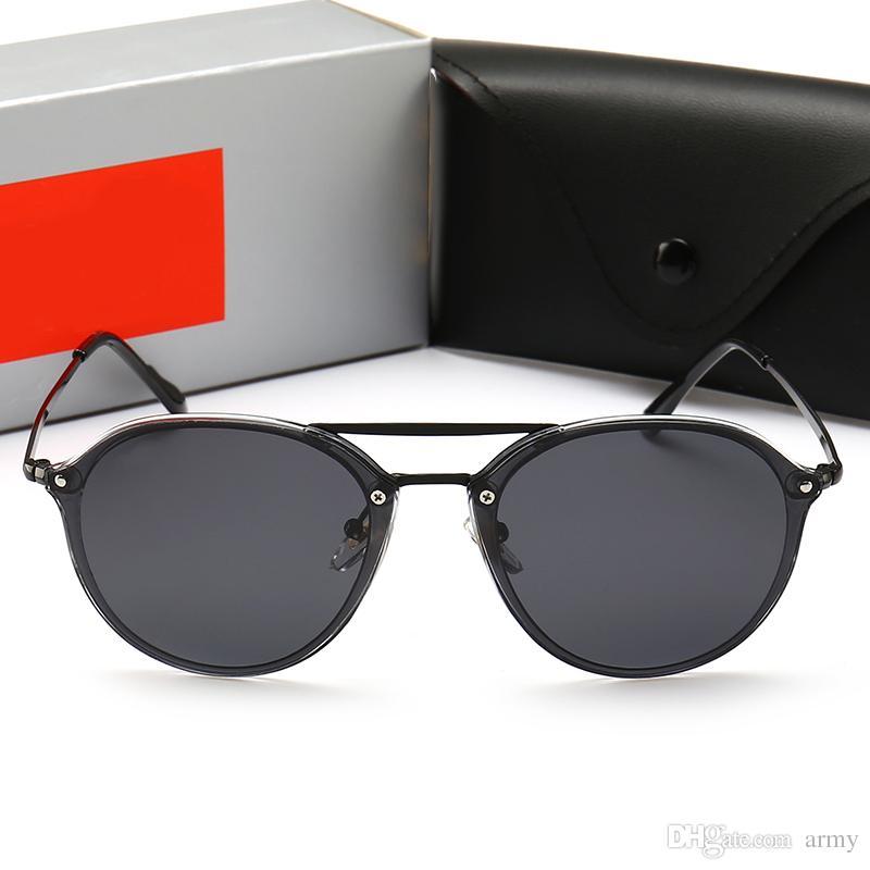 Compre 2018 Nova Marca De Luxo Designer De Óculos De Sol Das Mulheres  Pontos De Sol Moda Com Caixa De Óculos De Sol Uv400 Para As Mulheres Sem Aro  4292 De ... 57f8506e1c