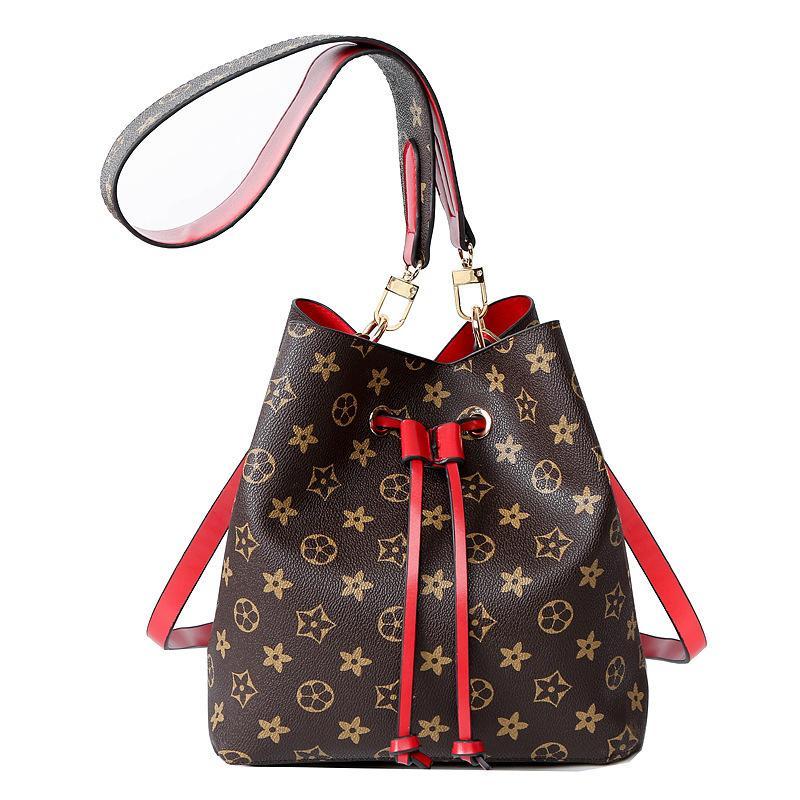 1e184f6be78c NEONOE Shoulder Bags Noé Leather Bucket Bag Women Famous Brands Designer  Handbags Flower Printing Crossbody Bag Purse Twist UK 2019 From  Huang1010503784