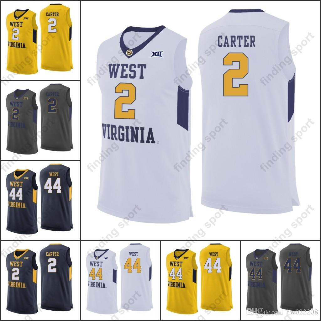 sports shoes 6bc51 9c435 2018 new WVU West Virginia Mountaineers College Basketball jerseys Jevon  Carter Sagaba Konate Jerry West Sagaba Konate Jevon Cart