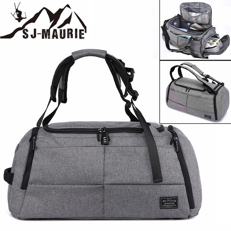 2019 SJ Maurie Men Training Bag Sport Fitness Gym Bag Shoe Compartment  Outdoor Travel Boarding Tote Backpack From Kangshifuwat,  58.51   DHgate.Com 91b0ac05e6