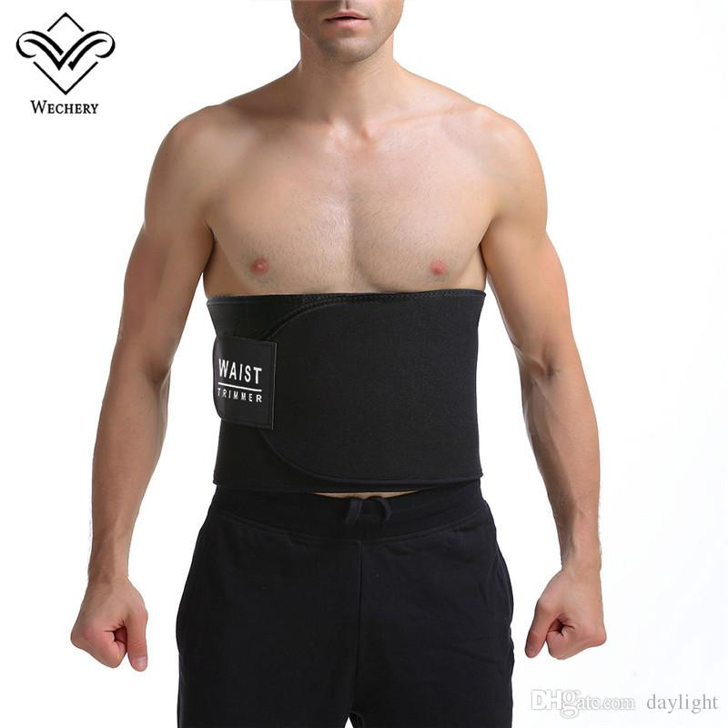 71079d17ec0ad 2019 Wechery Neoprene Waist Traimmer Slimming Belt Belly Men Body Shaper  Abdomen Tummy Shaperwear Waist Trainer Cincher Slim Girdle From Daylight