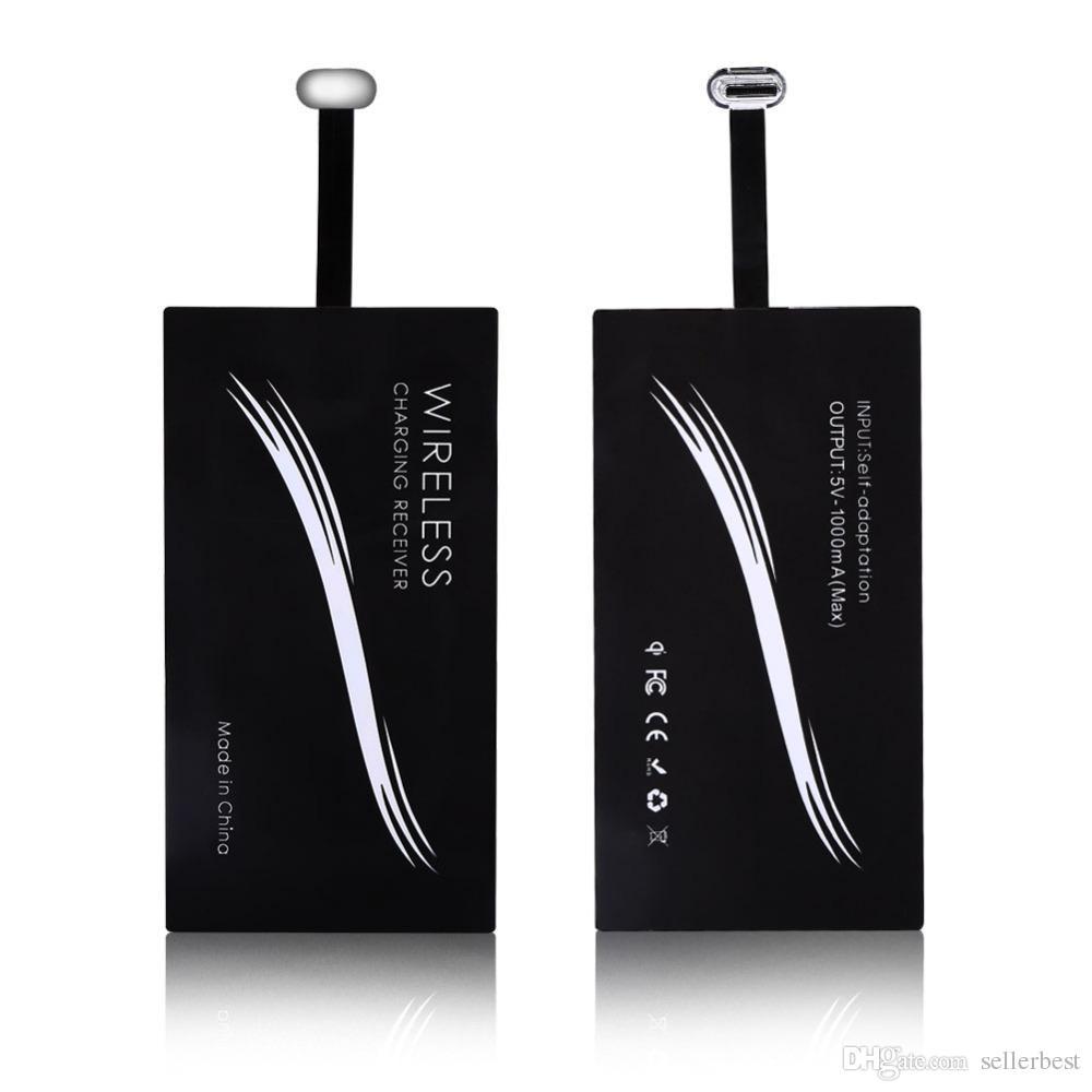 C 형 USB-C Qi 무선 충전기 안드로이드 용 충전 수신기 모듈 Smartphone 범용 C 형 휴대 전화 충전기 수신기