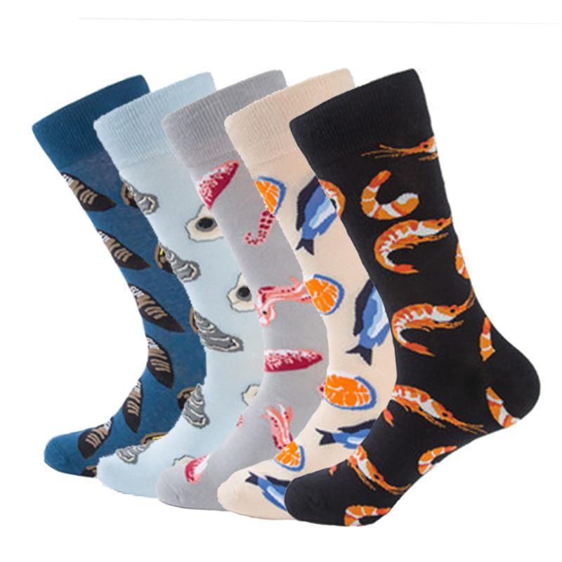Hearty New Harajuku Style Hip Hop Mens White Black Socks Street Funny Socks Tide Male Skateboard Business Socks Cotton Mens Socks Moderate Price Underwear & Sleepwears