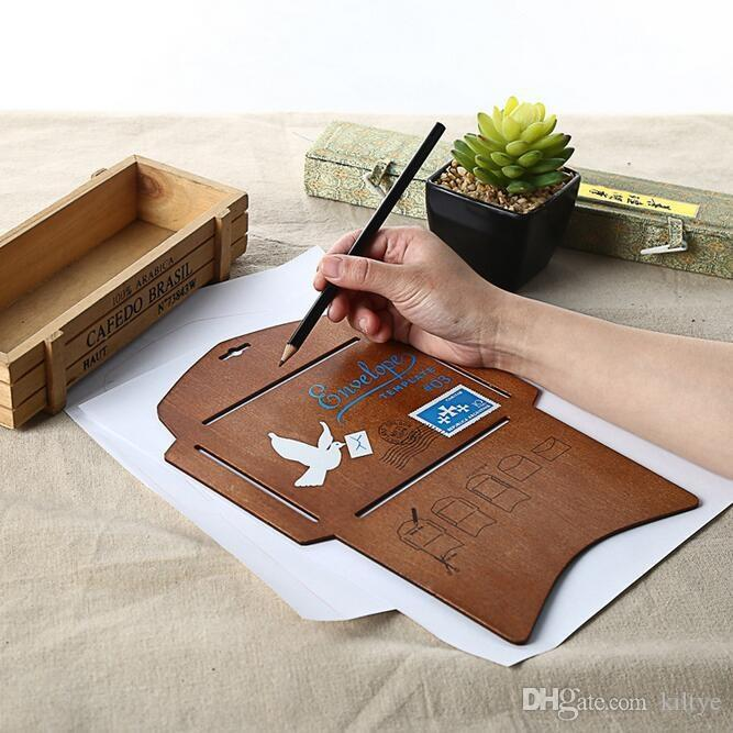 Wholesale New Wooden Envelope Template Manual Stencil Mould Make - Online envelope template