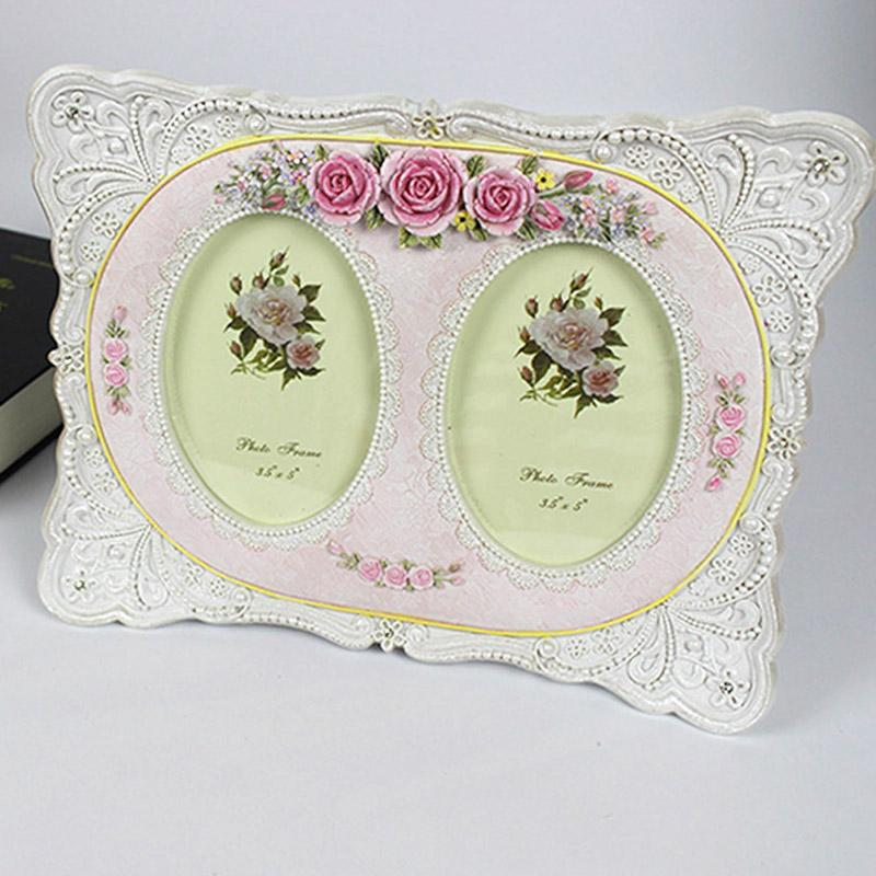 2018 5 Inch Double Hole Frame Pastoral Resin Creative Photo Studio ...