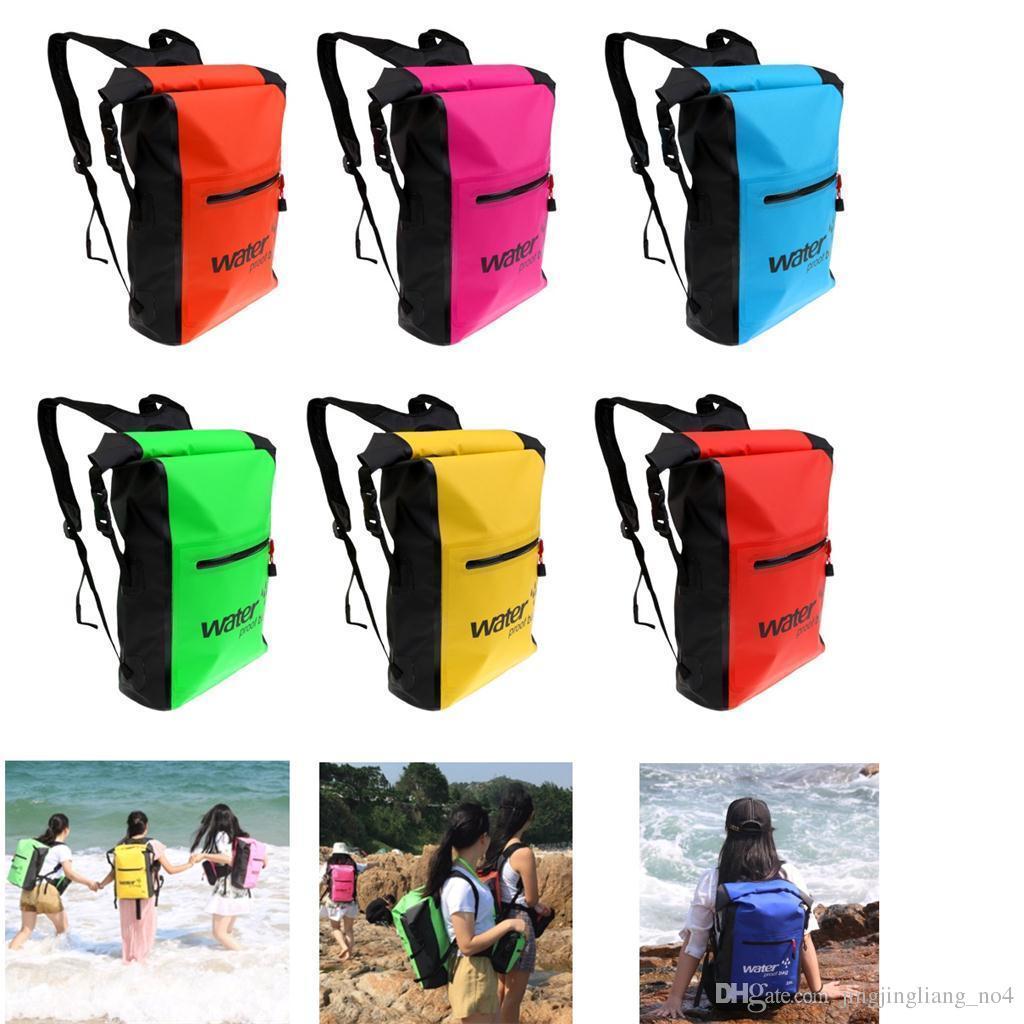 b5a2c92322 25L Waterproof Dry Bag Backpack Floating Kayak Canoe Boat Surf Camping Swim  Hot