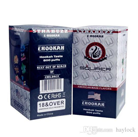 Wholesale ShiSha Time E Hookah 500 Puffs Pipe Pen Electronic Cigarette Stick Sticks Shisha Hookah disposable e