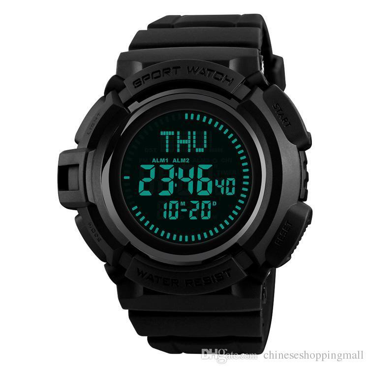 Skmei Outdoor 50m Waterproof Countdown Compass Chronograph Sport Watch Man Watch Mens Digital Clock Relogio Masculino 100% Original Watches Digital Watches