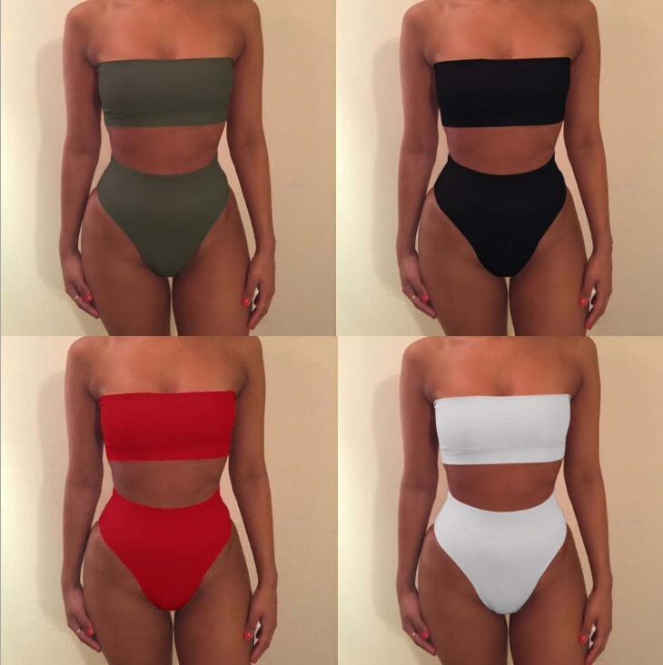 Women's Removable Strap Wrap Pad Cheeky High Waist Bikini Set Swimsuit Fashion Sexy Bikini for women New swimwear for women