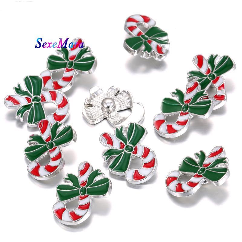 Schmuck Weihnachten.Großhandel Neueste Weihnachten Candy Snap Schmuck Weihnachten Socken Snap Frauen Metallknöpfe Charme Armbänder Schmuck