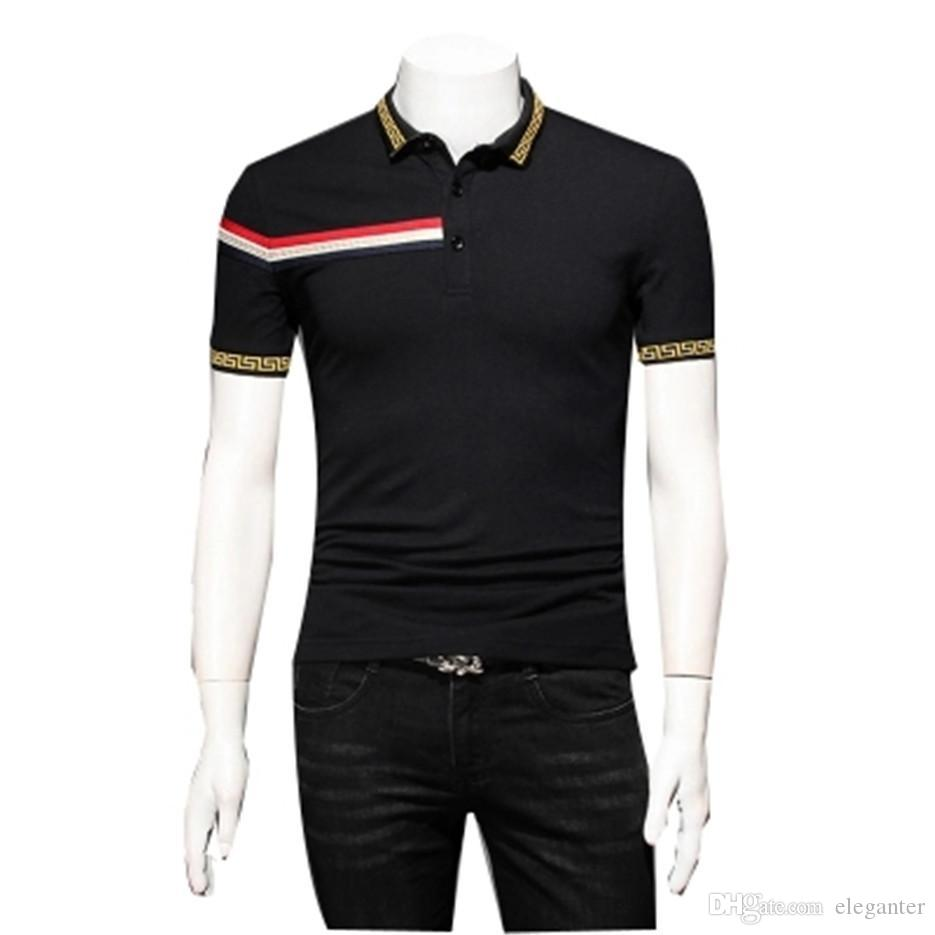 b291422fba75a Summer Polo Fat Plus-size Youth Men s Short Sleeve T-shirt Whose Lapel  Summer New Boom 5 Xl Polo Shirt FS-012 Men s Polos Polos T-shirt Online  with ...