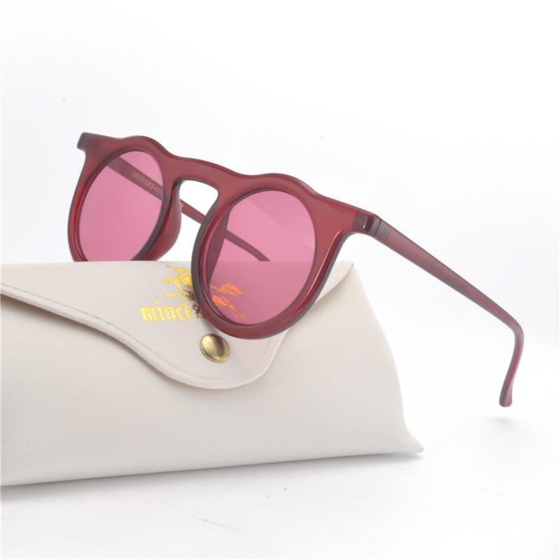 d78210f5c3 Compre Gafas De Sol De Gran Tamaño 2019 Para Mujer Marca MINCL Gafas De Sol  Redondas Marrón Negro Rosa Lentes Tonos UV400 Gafas Para Mujer Con Caja NX  A ...