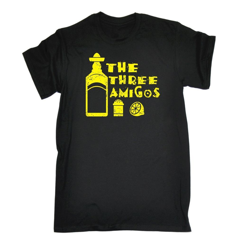 The 3 Amigos T-SHIRT Tequila Slammer Drink Party Stag Do Party Gift Birthday