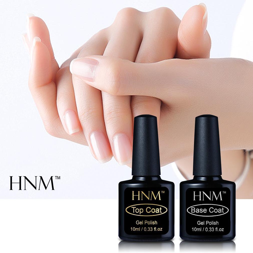HNM 10ml Base Top Coat Gel Polish Primer Long Last Gel Nail Polish ...