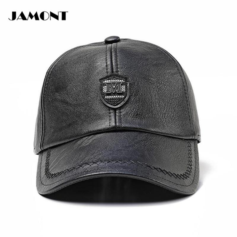 2019 JAMONT Adjustable Winter Golf Hat Windproof Cap With Earflaps PU  Leather Mens Comfortable Warm Golf Hats From Mangosteeng 7add1632f1b