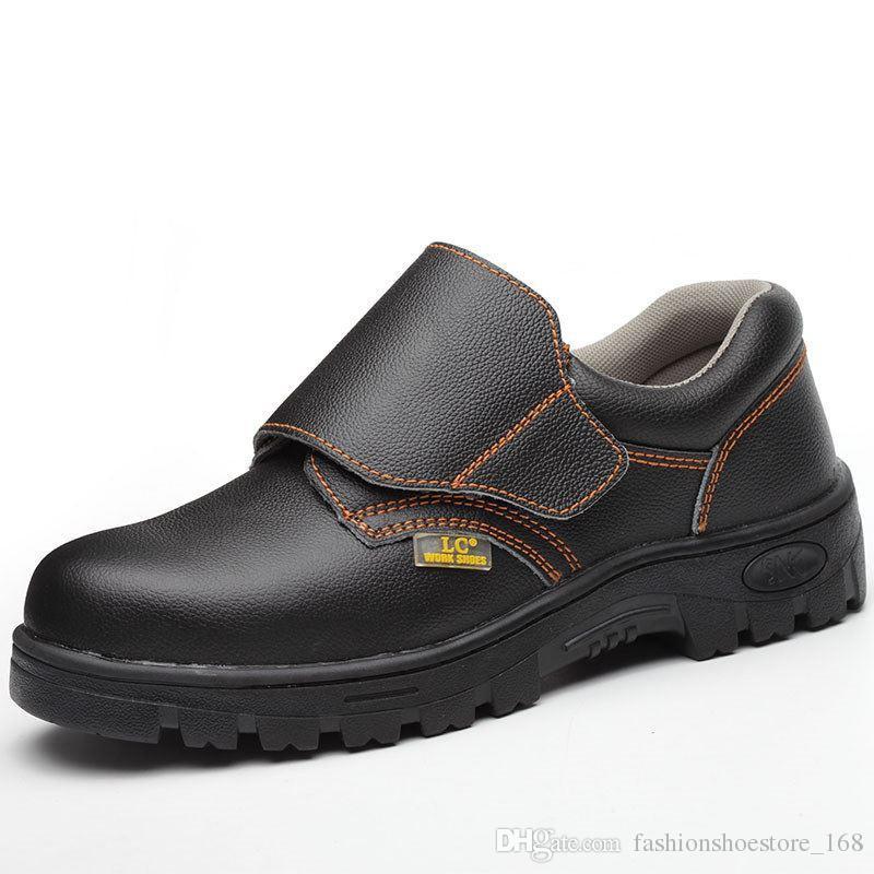 b4a16b76d93 Compre Homens Sapatos De Segurança De Trabalho De Solda Botas De Dedo Do Pé  De Aço Respirável Botas De Segurança De Trabalho Casuais Light Weight  Puncture ...