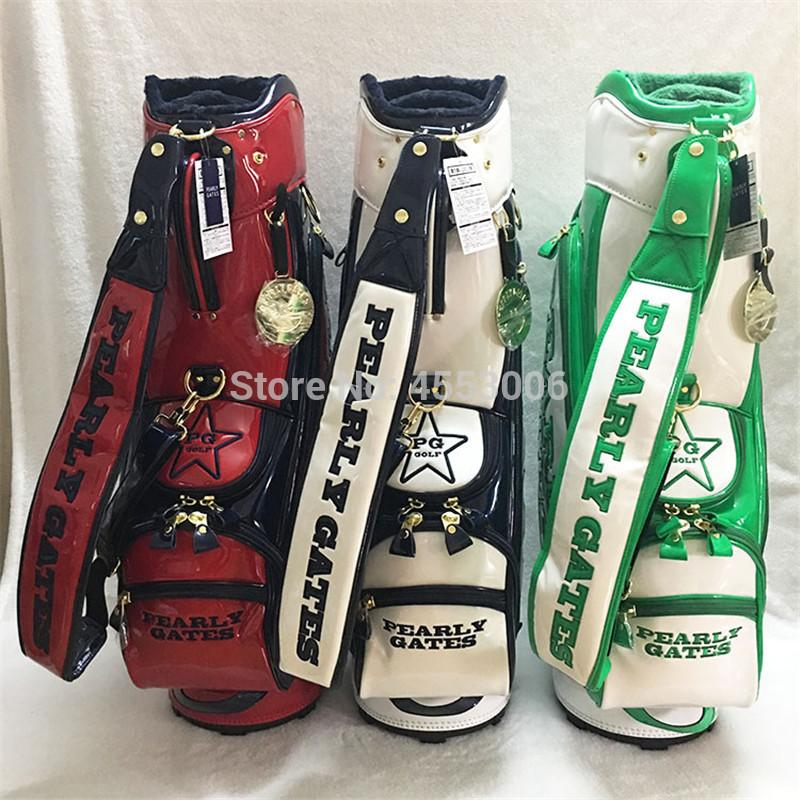 New Smilling Face Golf Bag Pearly Gates Men Women Full Clubs Set PU ... c33c6840fe36