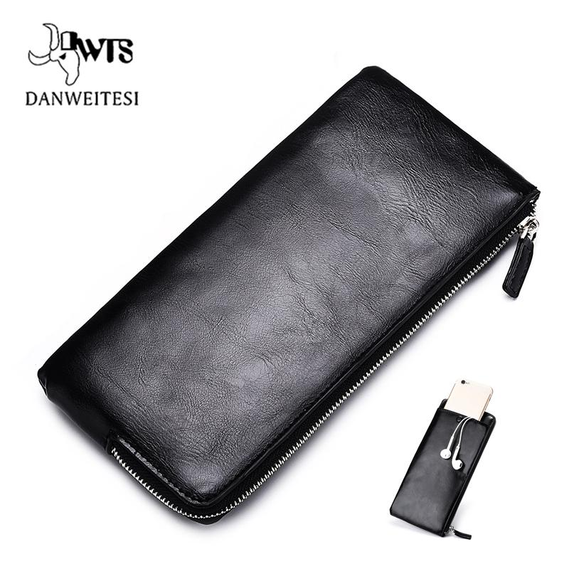 2c87d1ab656 DWTS Men Wallets Card Holder Leather Male Wallet Luxury Long Design Quality Passport  Cover Fashion Casual Mens Purse Zipper Womens Leather Wallets Designer ...