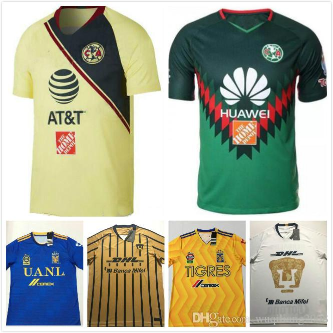 2a0faf293 2019 2018 2019 Chivas UNAM PumasI Home 3RD Soccer Jersey Away Blue  Camisetas De Futbol Cougar 18 19 Football Cortes Martinez Shirt From  Wuqiliang2008