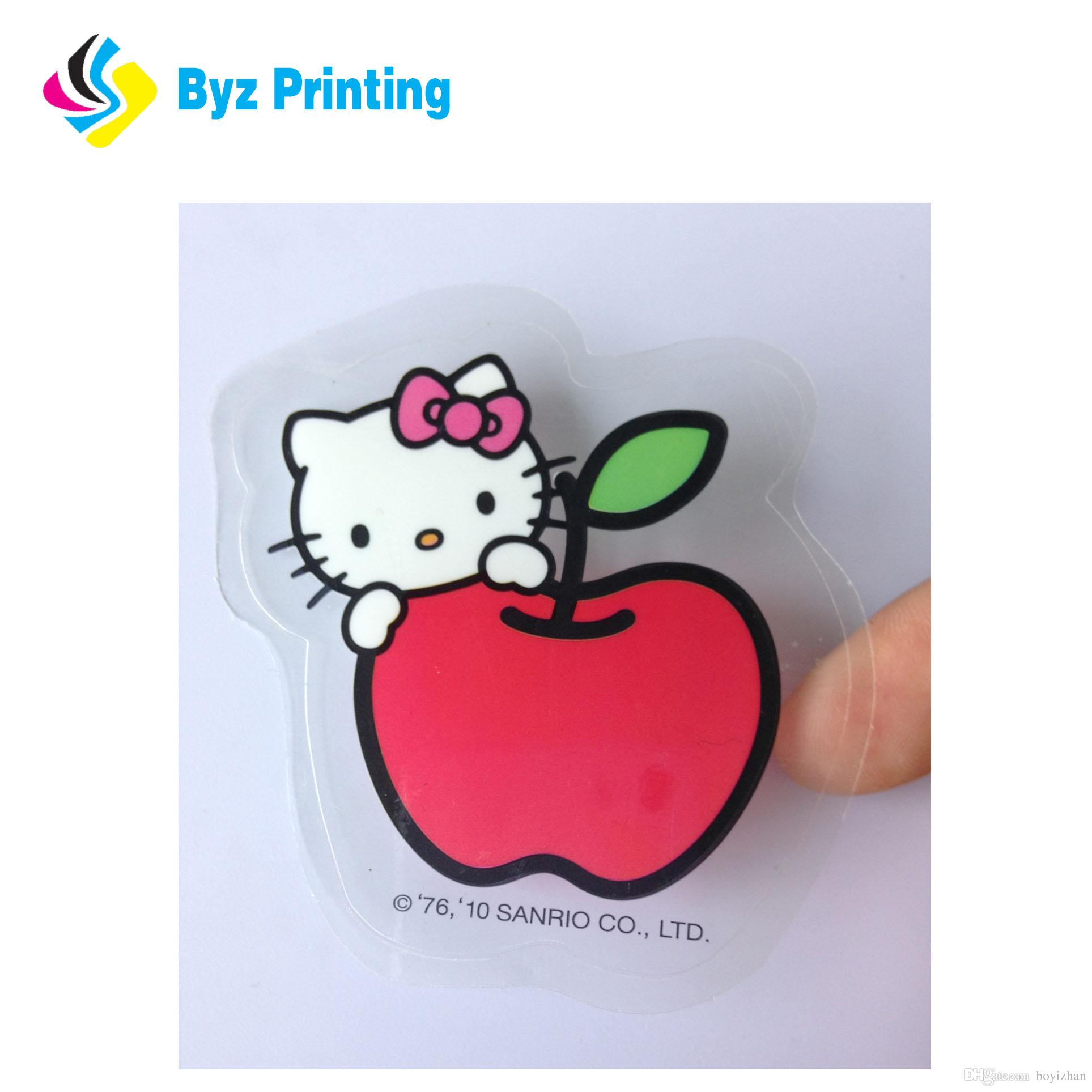 Custom clear stickers eco friendly transparent self adhesive printing sticker labels sheet package die cut