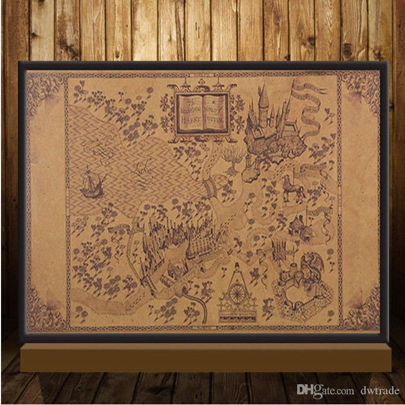 Maps Of The Wizarding World Of Harry Potter Poster Movie Vintage ...