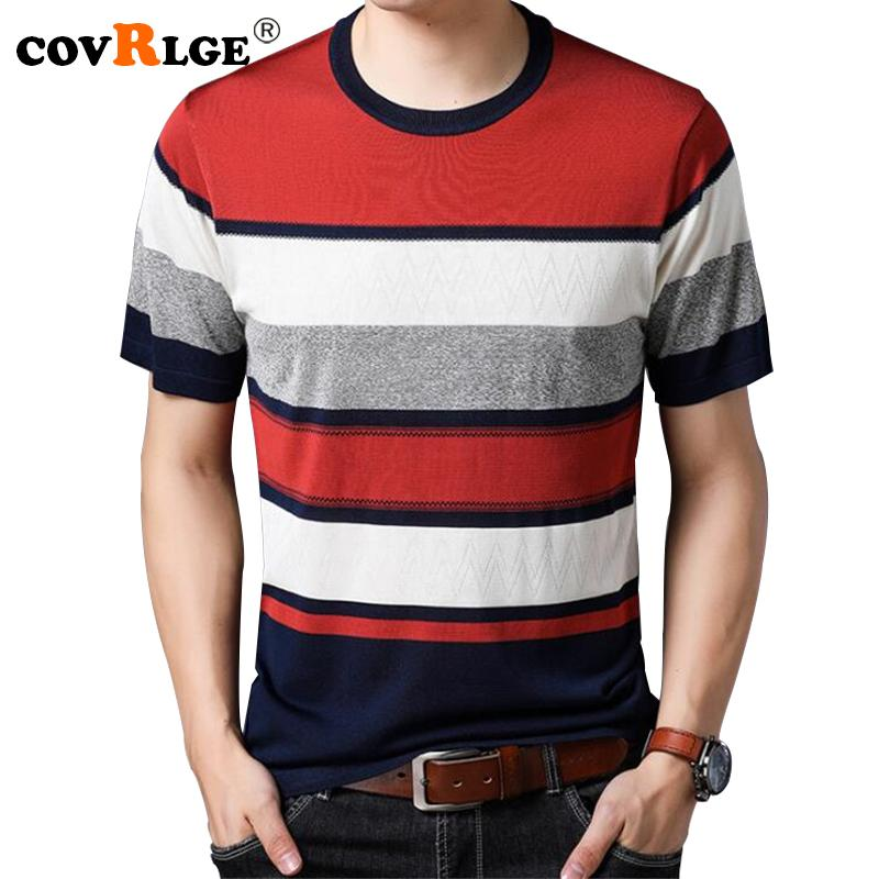 2019 Covrlge 2018 Summer New Men Short Sleeve Sweater Mens Fashion