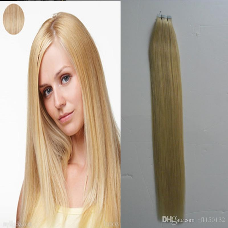 Wholesale New Indian Remy Tape Hair Extensions 100g Straight Tape