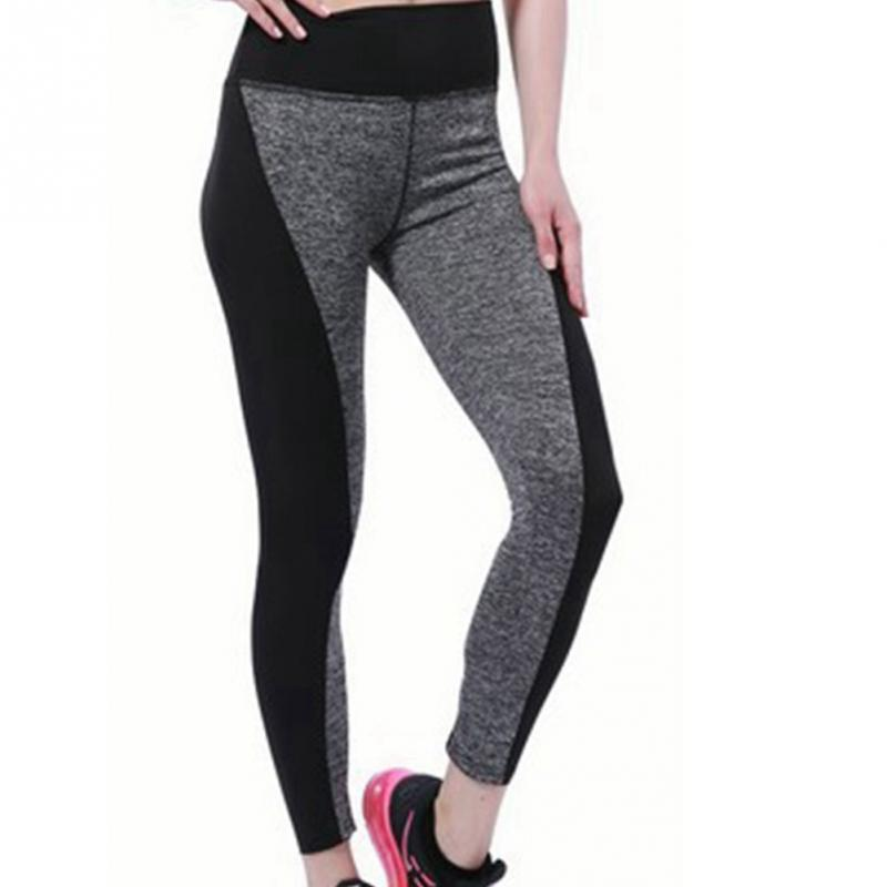767e3c3de68e7b 2019 Black Grey Patchwork Women Yoga Pants Elastic High Waist Push Up Quick  Dry Skinny Pants Fitness Sports Legging From Alexandr, $39.27 | DHgate.Com