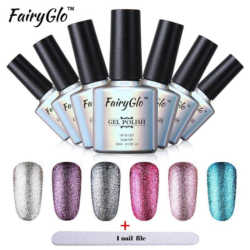 Fairyglo Platinum Gel Polish Tool Set Nail Gel +Buffer File Nail ...