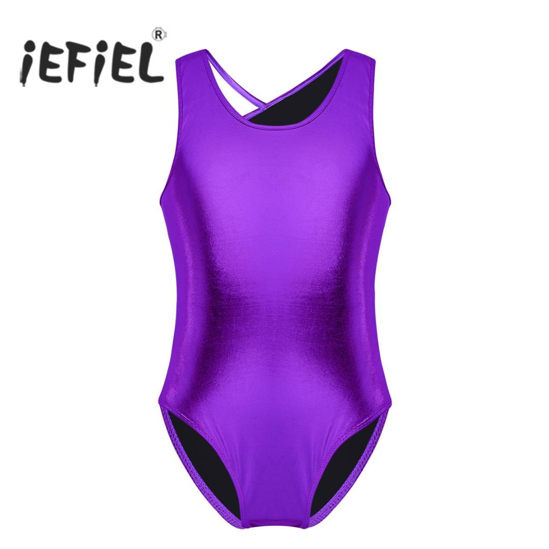 c38df7b68 2019 IEFiEL Girls Gymnastics Leotard Bodysuit For Kids Teen ...