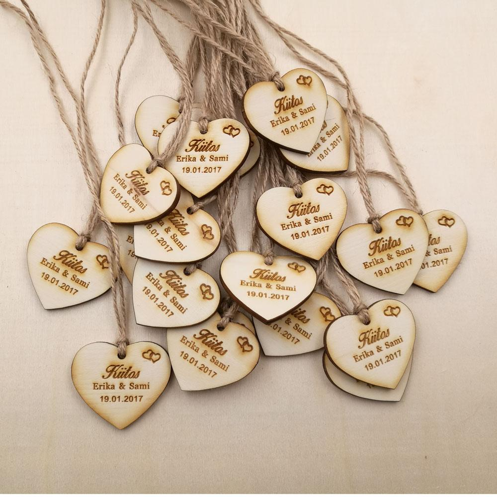 Wholesale Personalized Wedding Favor Tags Rustic Bridal Shower