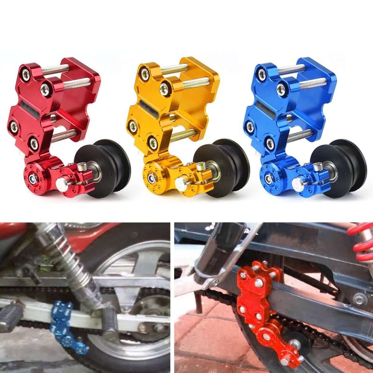Universal Motorcycle Aluminum Roller Chain Tensioner Adjuster Chain  Tensioner bolt Roller 3Color For Dirt Pit Bike ATV