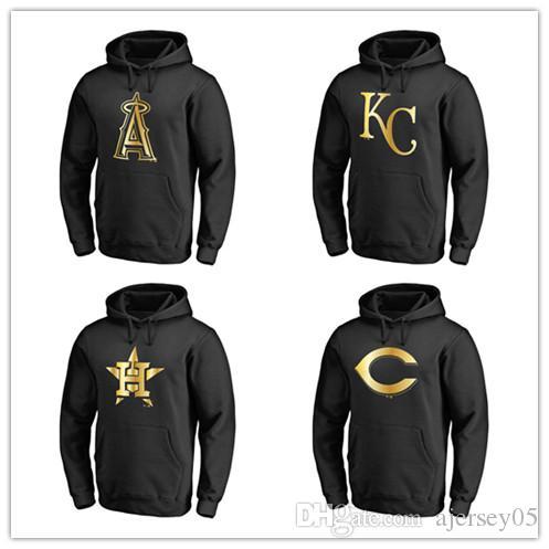 Compre 2018 Rebajas Nuevo Suéter De Cuello Alto Para Hombre Cincinnati Reds  Houston Astros Kansas City Los Angeles Dodgers Gold Series Pullover Hoodie  Negro ... e6bf945814c