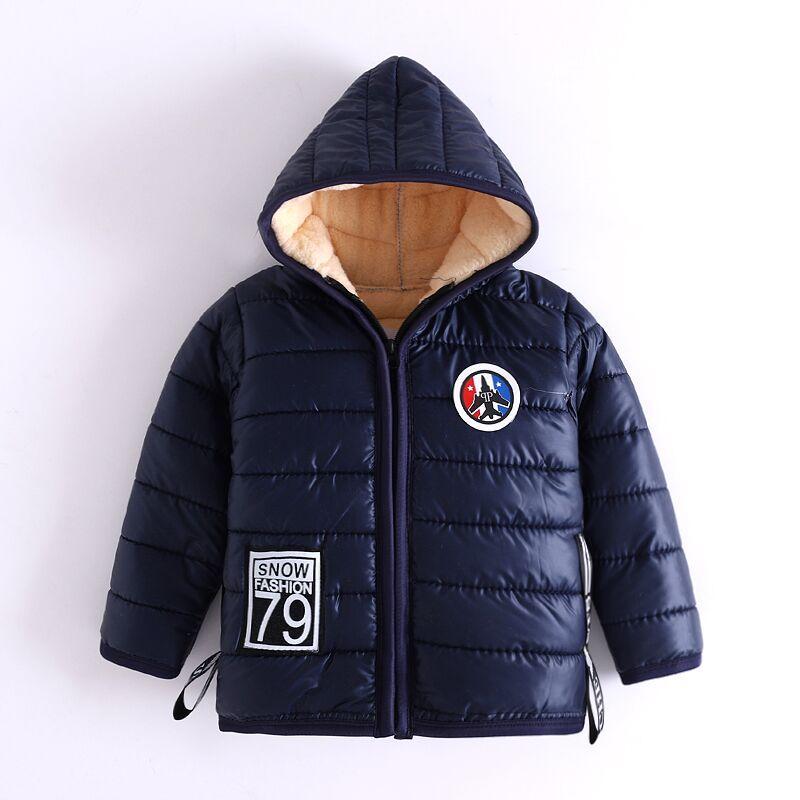 05d859a93 Bibicola 2018 Winter Boys Warm Down Jacket Children S Tide Hooded ...
